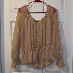 NYC Design Co See Through Off The Shoulder Blouse